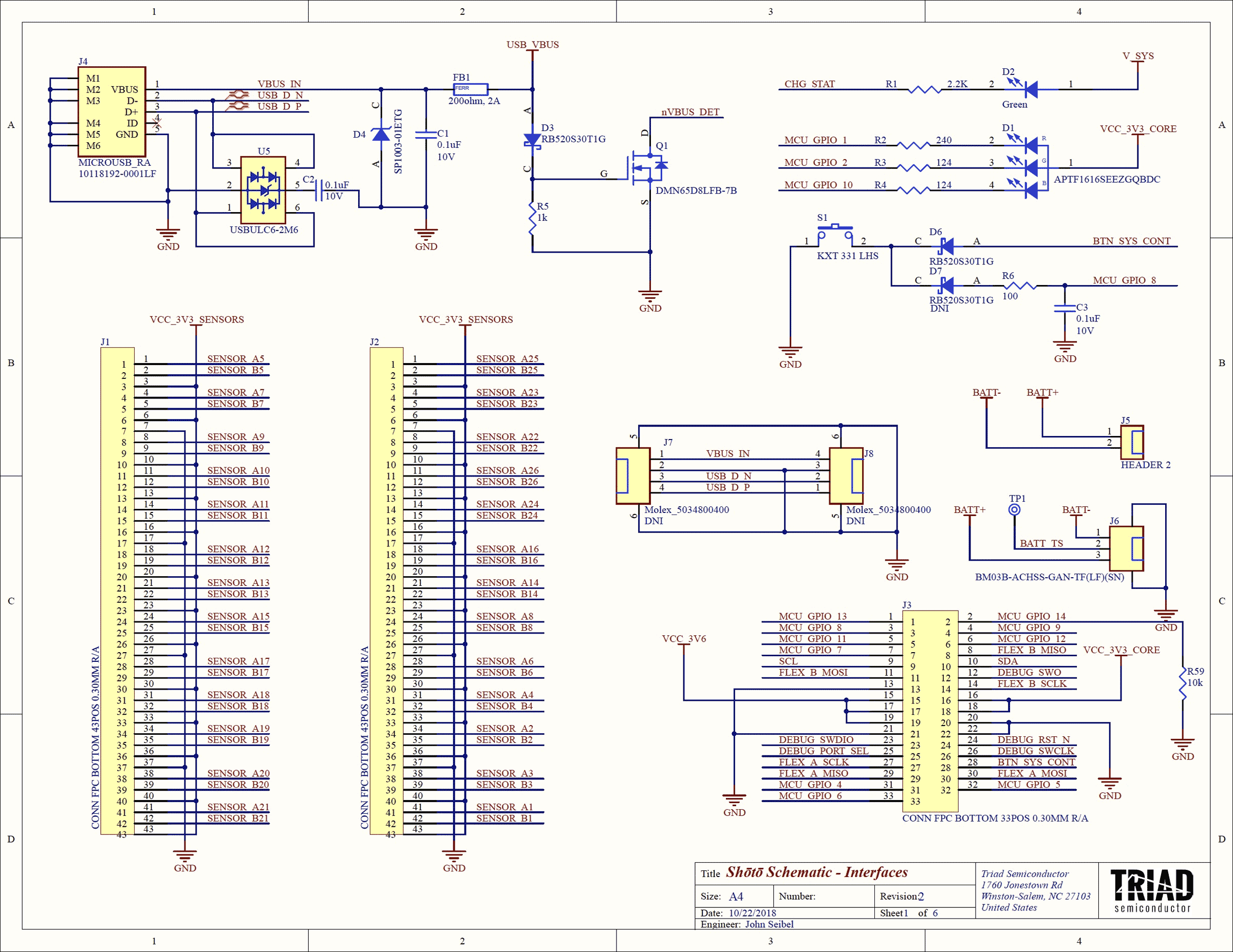 Sheet 1 - Connectors & Indicators