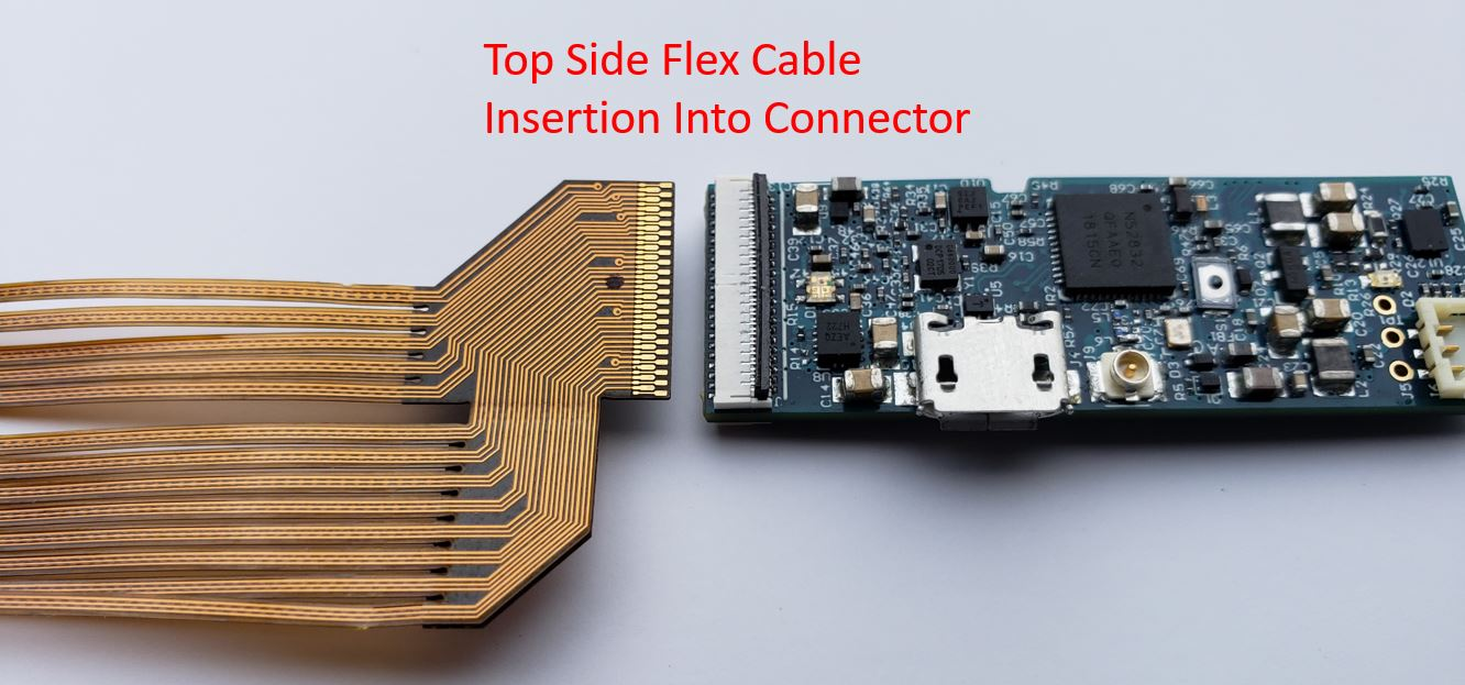 Top Side Flex Cable Insertion into Connector
